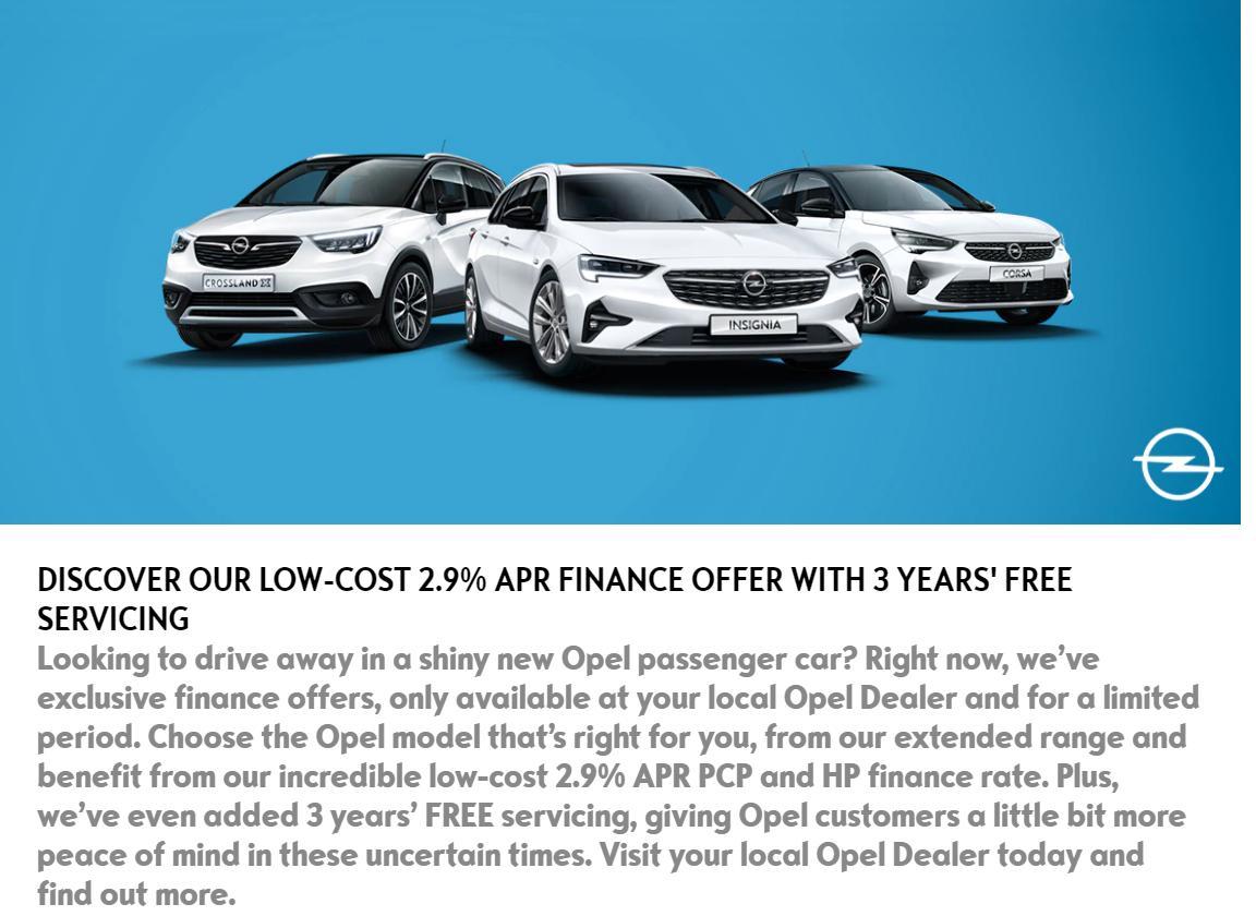 Opel 2021 offers